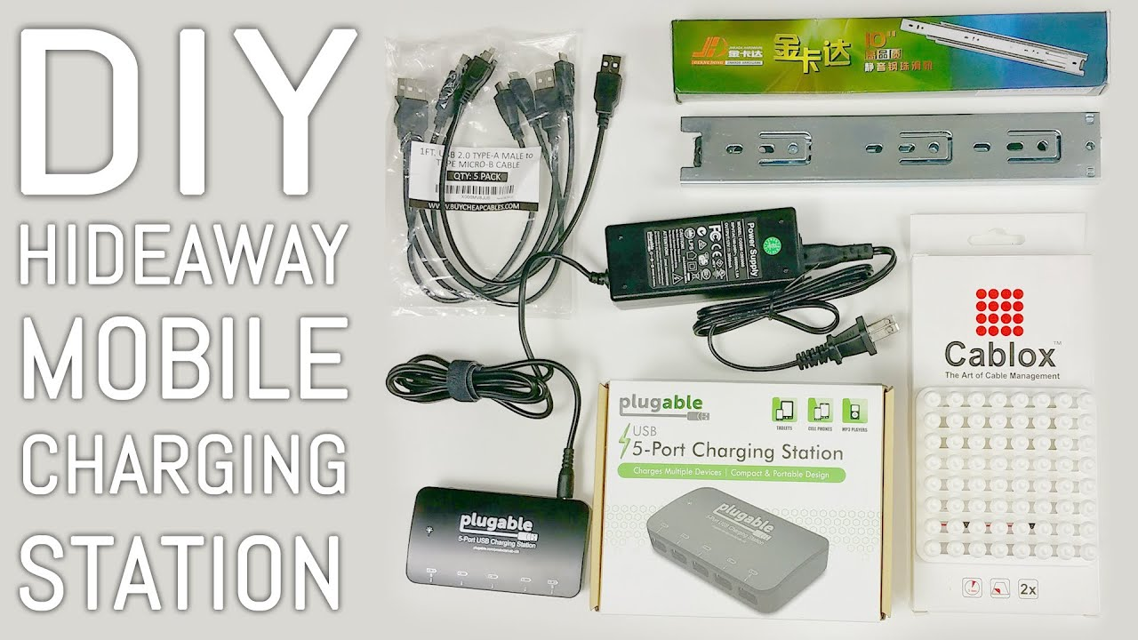 50 Diy Hideaway Mobile Charging Station Cablox