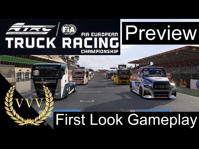 FIA European Truck Racing - First Look Gameplay