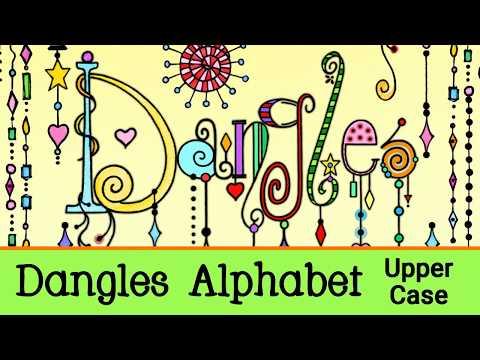 Dangles Upper Case Alphabet Preview