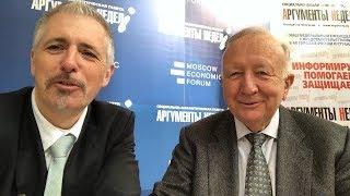 Für die Völkerverständigung! Dirk Müller und Willy Wimmer vom Economic Forum in Moskau