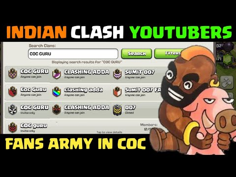 Indians Clash Youtubers FANS ARMY In Clash Of Clans