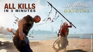 Assassin's Creed Origins in 3 Minutes - ALL Finishing Moves / Brutal Kills Compilation