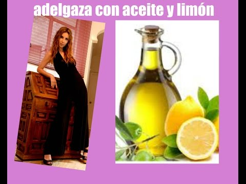 Cómo ADELGAZAR RAPIDO con ACEITE DE OLIVA Y LIMON / Olive Oil and Lemon Water to Lose Weight