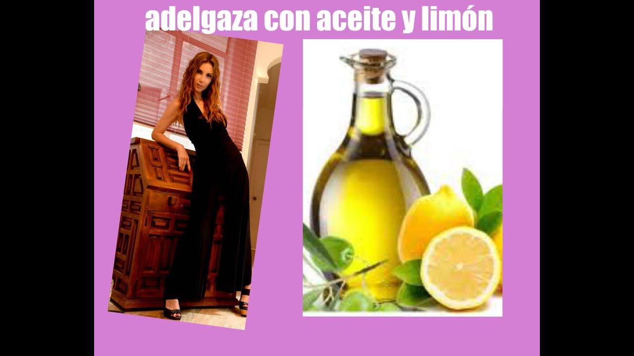 Bajar de peso con limon y aceite de oliva