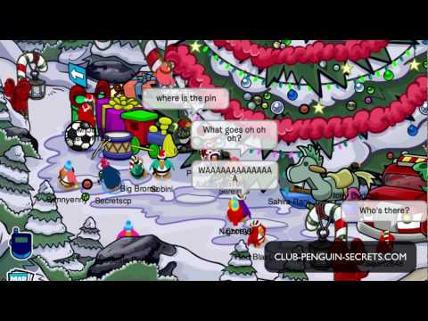 Club Penguin - Throw Ornaments in the Forest