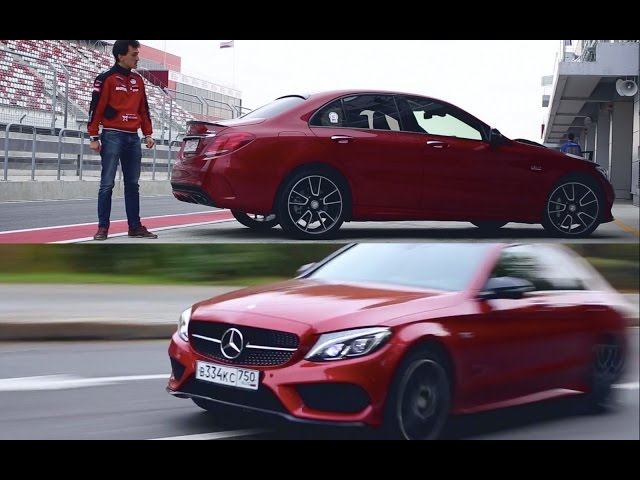 Тест-драйв Mercedes-Benz C 450 AMG DTM TEAM Edition (367 л.с.) + стенд, автодром и 0-200 км/ч