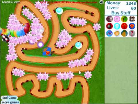 Bloons Tower Defence 3 lvls 1-62 easy track 1