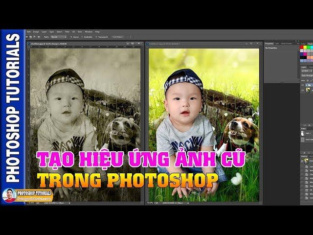 Tạo Hiệu Ứng Ảnh Cũ Trong Photoshop 🔴 MrTriet Photoshop Tutorials