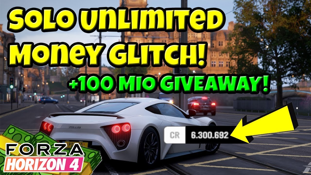 Forza Horizon 4 - SOLO UNLIMITED MONEY GLITCH + 100 000 000 CREDITS  GIVEAWAY!