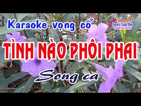 Karaoke vọng cổ TÌNH NÀO PHÔI PHAI - SONG CA [T/g Nhiệm Lê]