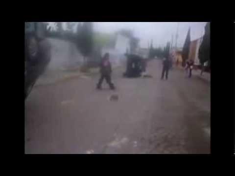 Queman palacio de Huehuetoca y destrozan dos patrullas