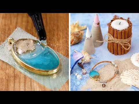 15 Stunning Resin and Jewelry Crafts and DIYs