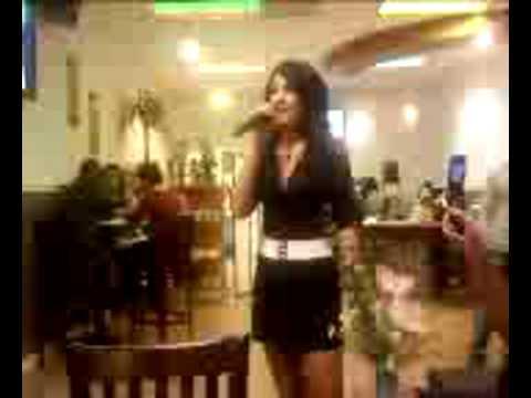 Milfy Singing Vietnamese Karaoke