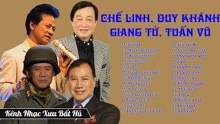Chế Linh, Duy Khánh, Giang Tử, Tuấn Vũ: Nhạc Lính Buồn Rơi Nước Mắt |  Nhạc Vàng Bolero Tiền Chiến