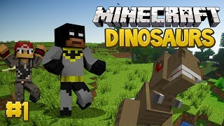 Minecraft Dinosaurs Mod (Fossils and Archaeology) Survival Series, Episode 1 - A Great Start