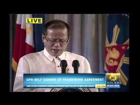Bangsamoro Framework Agreement is forged in Malacañan - Part 5/7