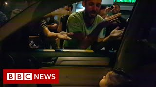 Lebanon Protests Protesters Sing Baby Shark To Toddler - Bbc News