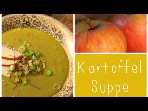 Kartoffel-Curry Suppe mit Frühlingszwiebeln und Chili