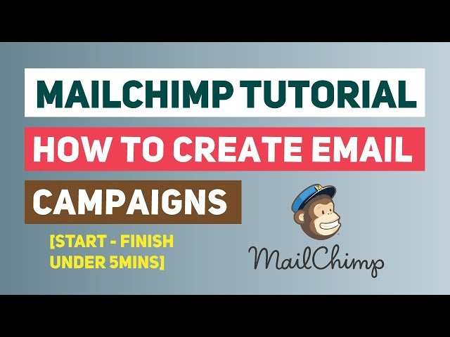 Mailchimp Tutorial: How To Create Email Campaigns [Start - Finish under 5mins]