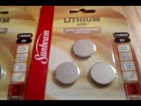 Lithium CR2032 3Volt $1.00 for 3 batteries.