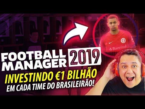 E Se Um BILIONÁRIO Investisse No BRASILEIRÃO?! FOOTBALL MANAGER 2019 EXPERIMENTO!!