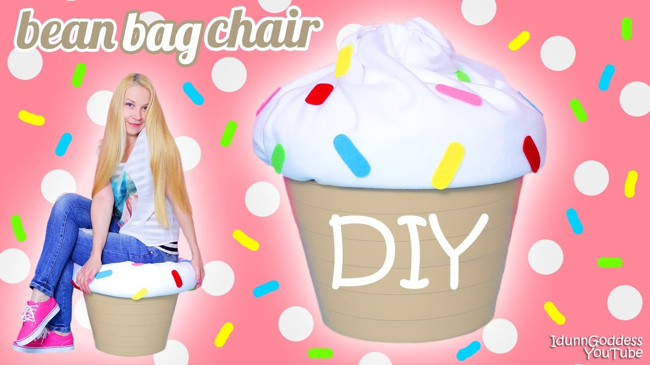 how to make a giant cupcake bean bag chair diy cupcake beanbag easy tutorial youtube. Black Bedroom Furniture Sets. Home Design Ideas