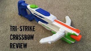 Nerf Super Soaker Tri Strike Crossbow Unboxing & Firing Test