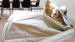 Scary Clown Attacks in Inflatable Air Mattress! - WeeeClown Around