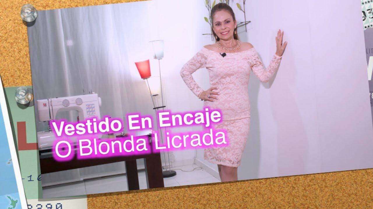 DIY Vestido en Encaje o Blonda Licrada Dress in lacy lace or lace ...