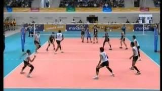 Thailand vs Malaysia - set 1 - Men Volleyball - 26th SEA GAMES