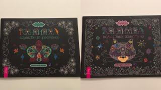 """Обзор раскрасок от Викалетты «Книга волшебных растений» и «Книга волшебных животных"""""""