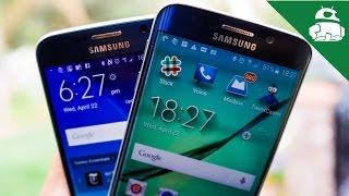 Samsung Galaxy S6 vs S6 edge!