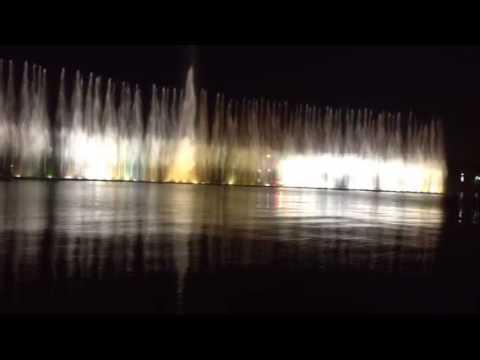 Musical Water Fountain in Xiaoqing, Guangdong, China   肇庆音乐喷泉