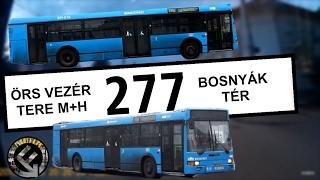 BKV 277-es busz útvonala (Örs vezér tere M+H - Bosnyák tér)
