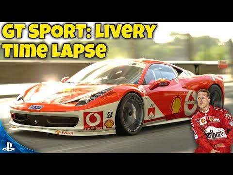 GT SPORT: Schumacher F2004 Inspired Speed Art - F1 Livery Time Lapse