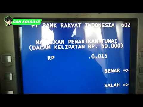 Tutorial TAKE MONEY IN BRI ATM