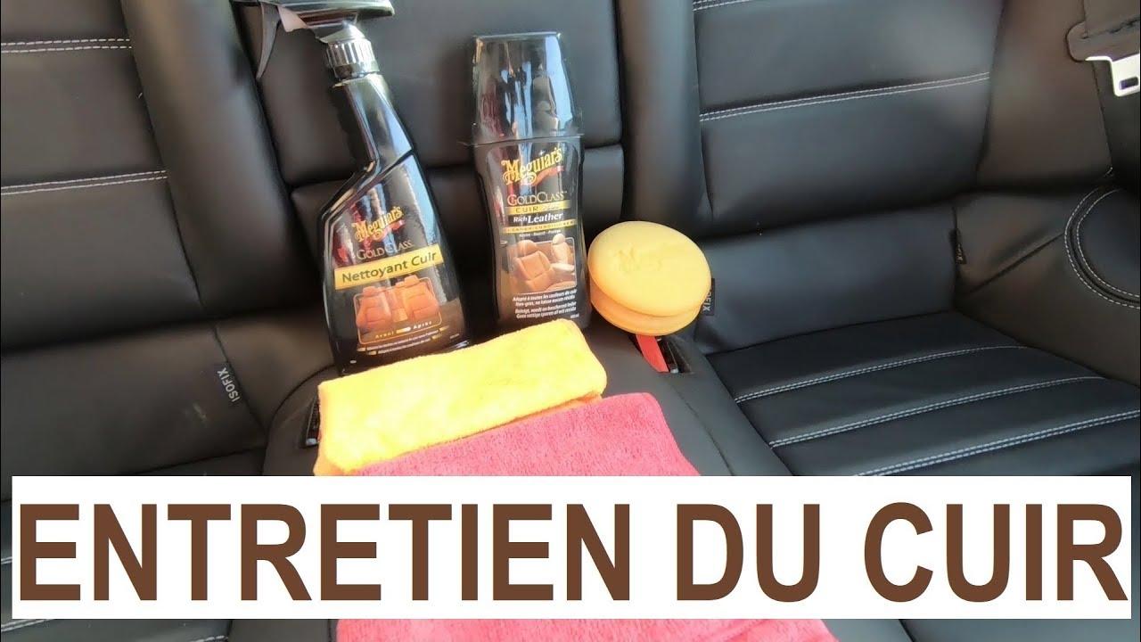 entretenir les cuirs de sa voiture en deux tapes nettoyage et protection youtube