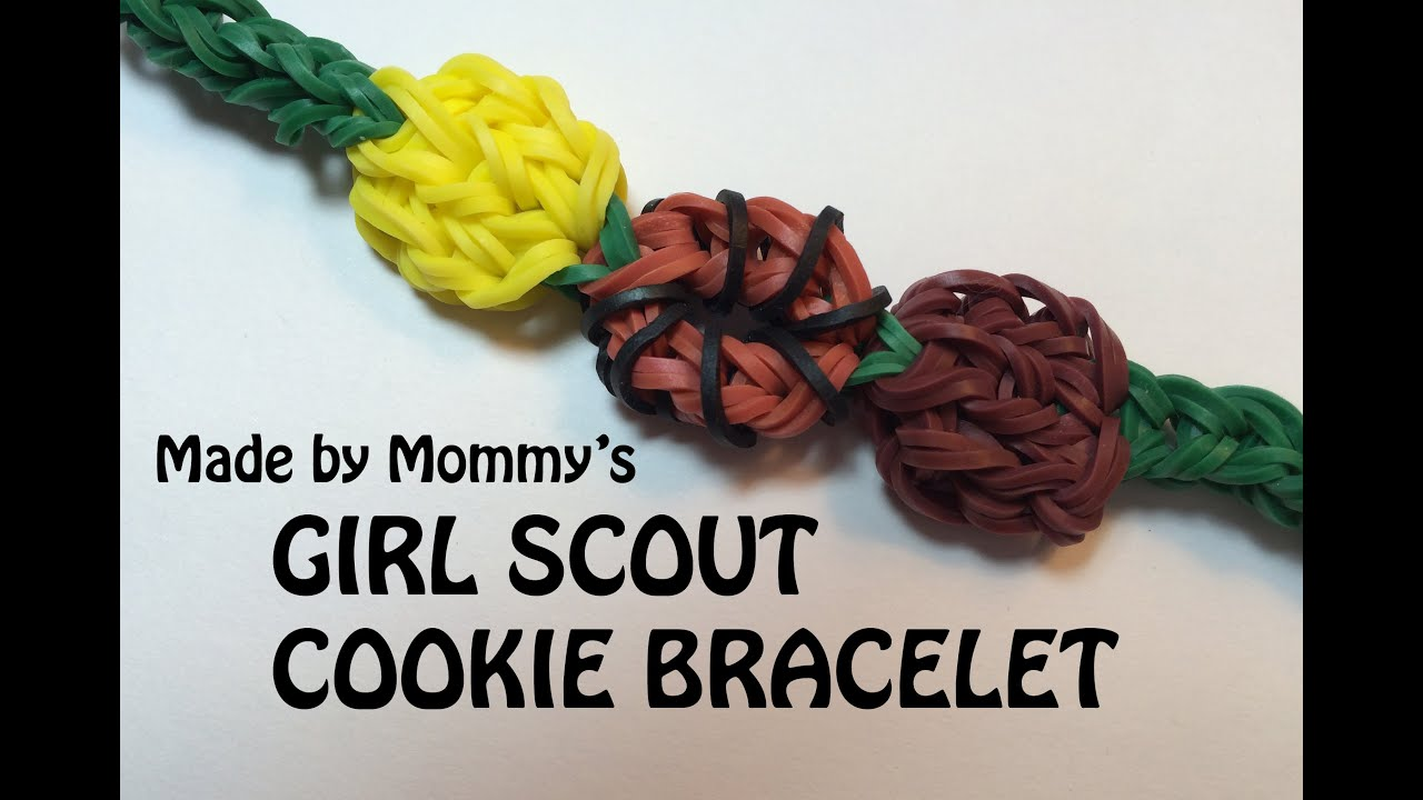 Girl Scout Cookie Bracelet On The Rainbow Loom Youtube