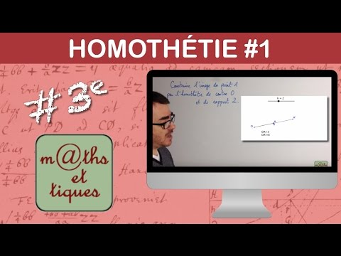 Construire l'image d'un point par une homothétie - Troisième