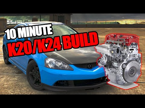 Building a K20/K24 engine in 10 MINUTES!