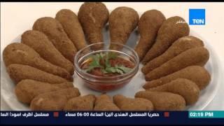 برنامج مطبخ 10/10  الشيف أمل طلبة - طريقة عمل معجنات دبابيس الدجاج (دبابيس الدجاج الكدابة)