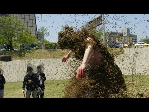 Man attacked by Killer Bees | Real Video Caught On Camera