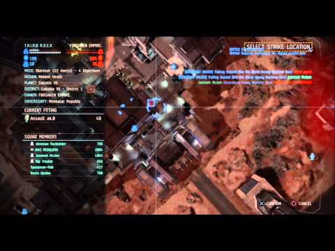 Dust 514 T.H.I.R.D  R.O.C.K vs FORSAKEN EMPIRE (PC, 1st Battle)