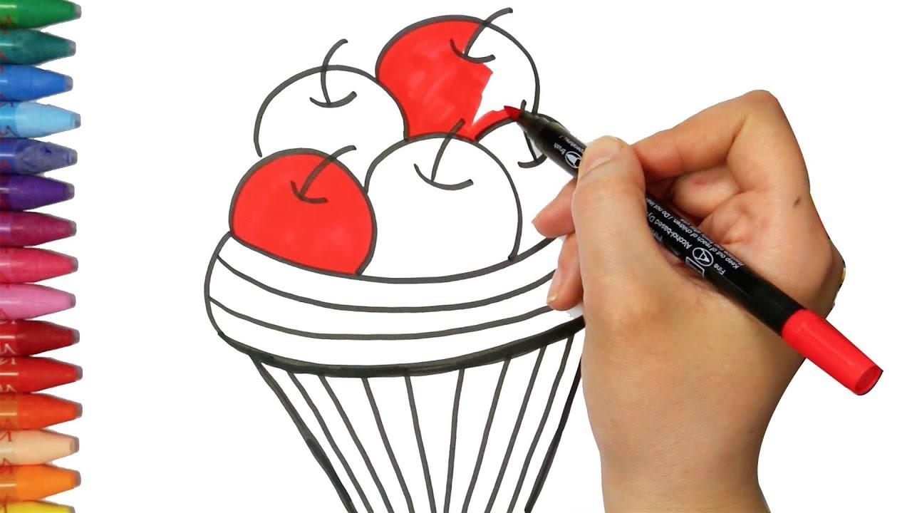 Elma Sepeti çizim Yapma Nasıl çizilir çocuk Ve Bebek Için