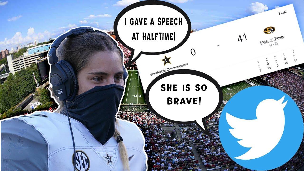Vanderbilt's K, Sarah Fuller becomes media HERO for halftime speech in 41-0 loss.