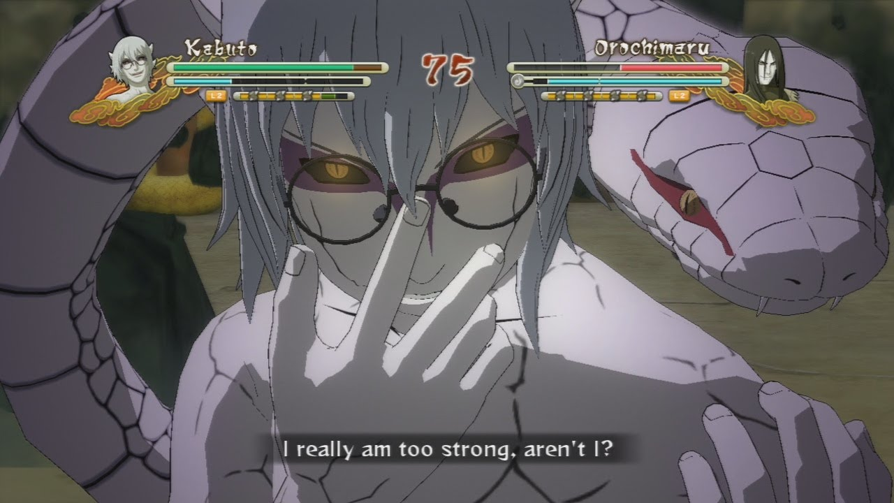 Sage Mode Kabuto vs Orochimaru Gameplay - Naruto Shippuden ...