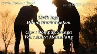 Hirim Marianakon - lirik lagu batak