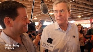"Jeb Bush in Iowa: ""You can't helicopter in and leave"""