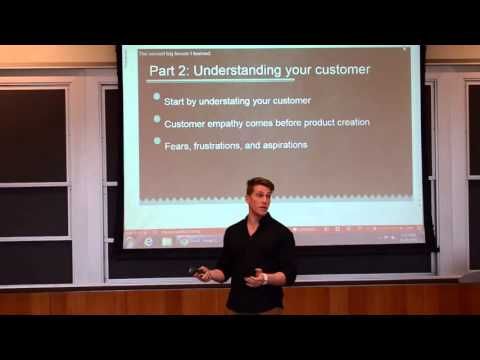 Wharton Business School: Entrepreneurship Speech (former private equity Associate)