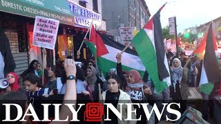Palestinians protest U.S. embassy move and 70th anniversary of Nakba in Bay Ridge, Brooklyn